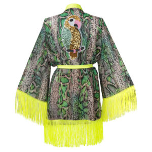 Kimono GREEN SNAKE 2